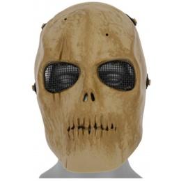 UK Arms Airsoft Mesh Dried Bone Skull Mask Version 2 - TAN