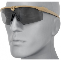 UK Arms Tactical Airsoft Smoke Gray Shooting Glasses - TAN
