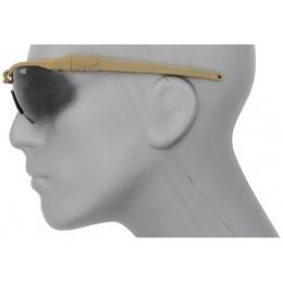 UK Arms Tactical Airsoft Smoke Gray Shooting Glasses - TAN