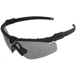UK Arms Tactical Airsoft Smoke Gray Shooting Glasses - BLACK