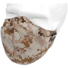 AMA Tactical Airsoft Nylon Half Face Mask - DESERT DIGITAL