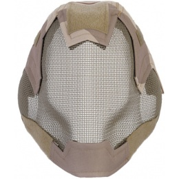 UK Arms Airsoft V6 Strike Full Face Mesh Mask Helmet - 3 COLOR DESERT