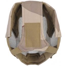 UK Arms Airsoft V6 Strike Full Face Mesh Mask Helmet - 3 COLOR DESERT