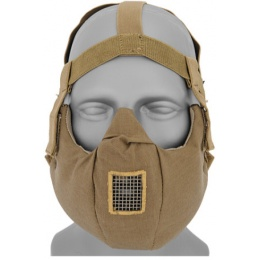 UK Arms Airsoft Tactical V5 Conquerors Half Face Mask - TAN