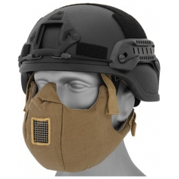 UK Arms Airsoft Tactical V5 Conquerors Half Face Mask - TAN
