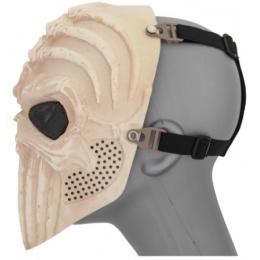 UK Arms Airsoft Tactical Vertabral Full Face Mesh Mask - SKELETON