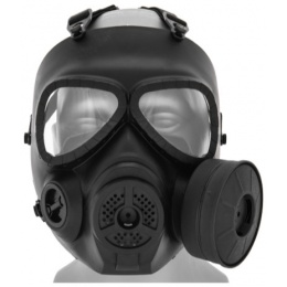 UK Arms Airsoft Tactical Dummy Anti-Fog Built-In Fan Gas Mask - BLACK