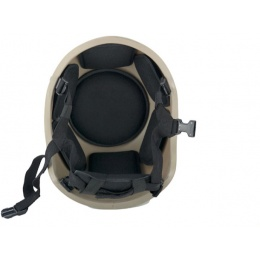 Lancer Tactical Airsoft Tactical ACH MICH 2001 Simple Helmet - TAN
