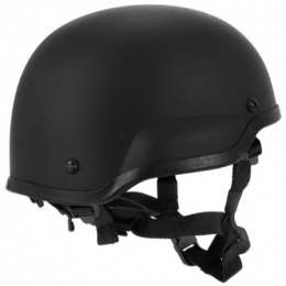Lancer Tactical Airsoft Tactical ACH MICH 2002 Simple Helmet - BLACK