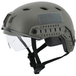 Lancer Tactical Airsoft Tactical BJ Type Basic Visor Helmet - OD GREEN