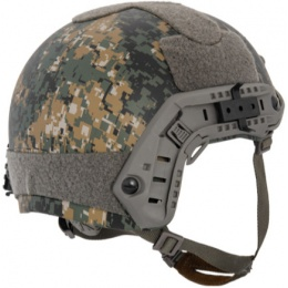 Lancer Tactical Airsoft Ballistic MH Type Helmet - DIGITAL WOODLAND