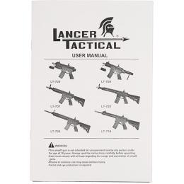 Lancer Tactical Metal M4 Warrior CQB AEG Airsoft Rifle - BLACK