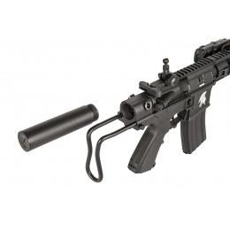 Lancer Tactical Metal M4 Cobra PDW AEG Airsoft Rifle - BLACK