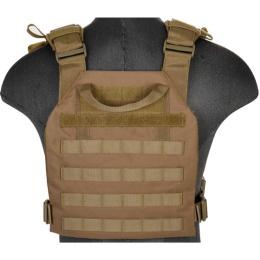 Lancer Tactical Polyester QR Lightweight Tactical Vest (Khaki)