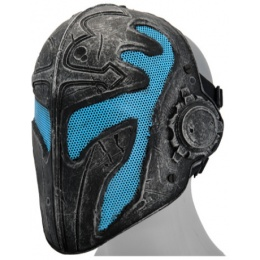 UK Arms Airsoft Tactical Full Face Steel Mesh Templar Mask - BLUE