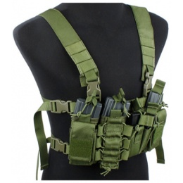 UK Arms Airsoft Tactical QR Chest Rig - OD GREEN