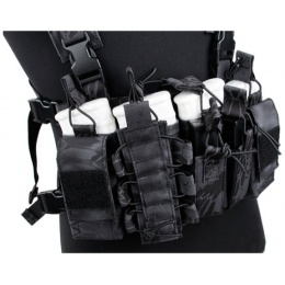 UK Arms Airsoft Tactical QR Chest Rig - TYPHON CAMO