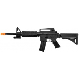 UK Arms Airsoft Spring Powered M16 Rifle w/ Laser - BLACK