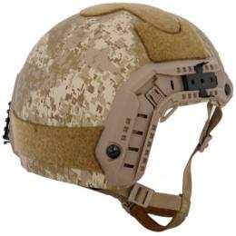 Lancer Tactical Airsoft Tactical Maritime Simple Helmet - DESERT DIGITAL