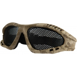 UK Arms Airsoft Tactical Wire Mesh LoPro Eye Goggle - DESERT DIGITAL
