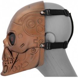 UK Arms Airsoft Tactical Terminator Full Face Mask - RED BRONZE