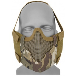 Black Bear Airsoft Tactical V8 Mesh Half Face Mask - CAMO