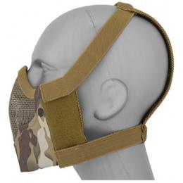 Black Bear Airsoft Tactical V8 Mesh Half Face Mask - CAMO