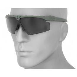 UK Arms Airsoft Tactical Ballistic Shooting Glasses - SMOKE GRAY