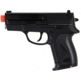 CYMA ZM01B Airsoft Compact Metal Spring Pistol - BLACK