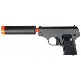 UK Arms Airsoft G1A Metal Spring Pistol w/ Barrel Extension - BLACK