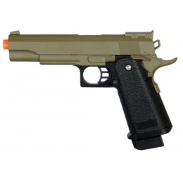 UK Arms Airsoft G6T Metal Spring Powered Pistol - OD GREEN