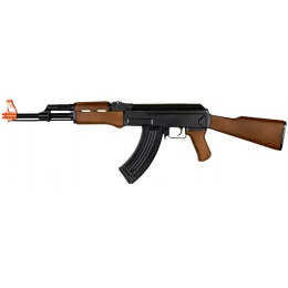 CYMA ZM93 Airsoft Full-Sized AK-47 w/ Fixed Stock - BLACK/WOOD
