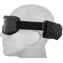 Lancer Tactical Airsoft Safety Goggles w/ Lens Kit Smoke-Clear-Yellow - BLACK
