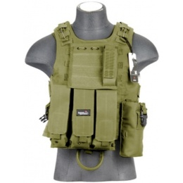 Lancer Tactical Airsoft Tactical Ballistic Plate Carrier Vest - OD GREEN