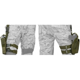 Lancer Tactical Airsoft Tactical Drop Leg Pistol Holster - OD