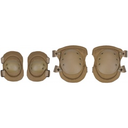 Lancer Tactical Tactical Elbow Knee Pad Protection Set - TAN