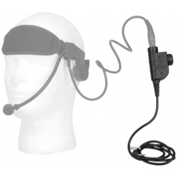 Lancer Tactical Airsoft Tactical Motorola 1-Pin Chest Push-To-Talk - BLACK
