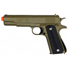 UK Arms Airsoft 1911 Metal Spring Pistol - OD GREEN