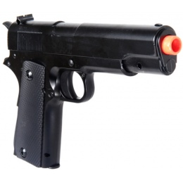 UK Arms Airsoft Full Metal Spring Powered 1911 Pistol - BLACK