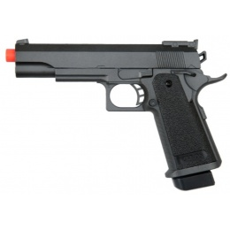 UK Arms Airsoft Full Size 1911 Spring Powered Pistol - BLACK