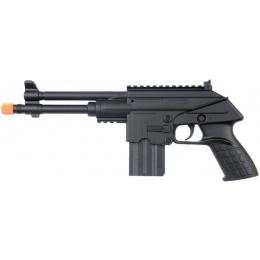 UK Arms Airsoft Long Barrel Spring Pistol - BLACK