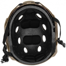 Lancer Tactical Airsoft Tactical Helmet w/ Retractable Visor - DESERT DIGITAL