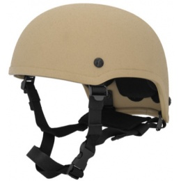 Lancer Tactical Airsoft Tactical MICH 2001 Helmet - TAN