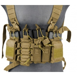 UK Arms Airsoft Tactical QR Chest Rig - COYOTE BROWN