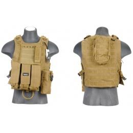 Lancer Tactical Airsoft Tactical QR Plate Carrier Vest - KHAKI
