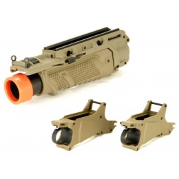 Lancer Tactical Airsoft Tactical EGLM MK16 Grenade Launcher - DESERT TAN