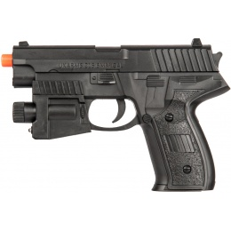 UK Arms Airsoft Spring Powered Laser Pistol w/ Strobe - BLACK