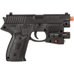 UK Arms Airsoft Spring Powered Laser Pistol w/ Strobe - BLACK