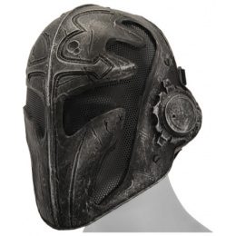 UK Arms Airsoft Tactical Steel Mesh Full Face Templar Mask - BLACK