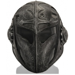 UK Arms Airsoft Tactical Steel Mesh Full Face Templar Mask - BLACK